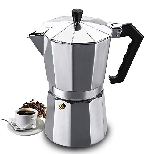 Vinekraft Moka Pot Espresso Maker Stovetop Coffee Maker - 6 cups/300ml