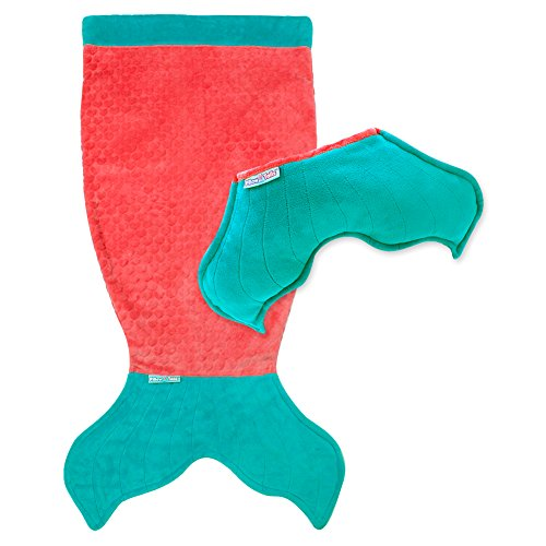 Pillow Tails Kids Convertible Mermaid Tail Blanket - Coral
