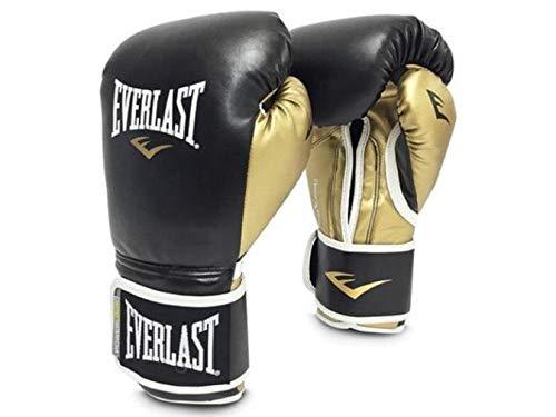 Everlast Boxing Gloves Powerlock Black/Gold 12Oz
