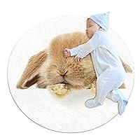 ラウンドキッズの敷物の丸いカーペットの丸い滑り止め丸いエリアの敷物洗い張りのフロアマット、リビングルームの寝室の敷物の子供の客室 (Size : 39.4x39.4IN)