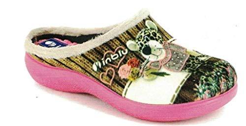 inblu Pantofole Ciabatte Invernali da Donna Art. EC-17 Sabbia (36)
