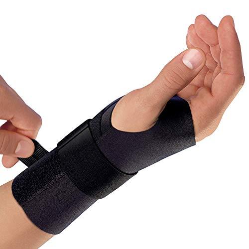 Futuro - Supporto per polso energizzante, per mano sinistra, piccolo medio, nero, supporto stabilizzante moderato