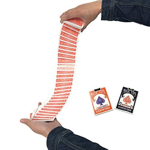 SAMTITY Elevator Poker Malabarismo automático Accesorios mágicos Etapa de Primer Plano Cubierta eléctrica Tarjeta de Cascada mágica Tarjeta de póker para Principiantes Trucos de Magia Accesorios