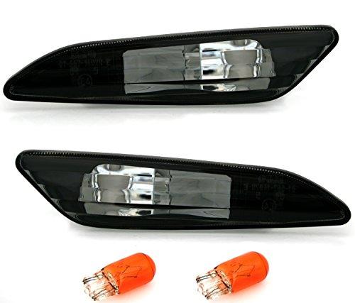 AD Tuning GmbH & Co. KG 960002 Seitenblinker Set, Klarglas Schwarz