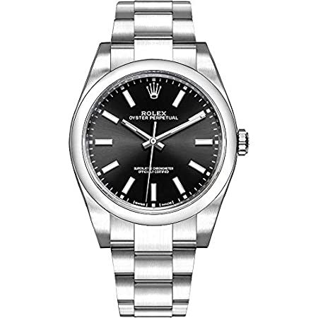 Fashion Shopping Men's Rolex Oyster Perpetual 39 Black Dial Luxury Watch (Ref. 114300)