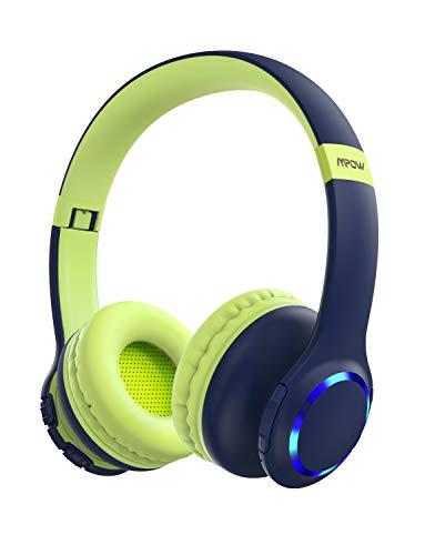 Mpow CH9 Kids Headphones Bluetooth 5.0 LED Light, 15Hours...