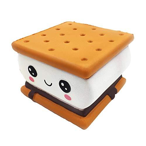 Oce180anYLV Sandwich Keks Modell Vent Spielzeug, Langsames aufsteigen des Sandwich-Kekses Emoji entlasten Druck-Kinder-Erwachsenes Pressungs-Spielzeug