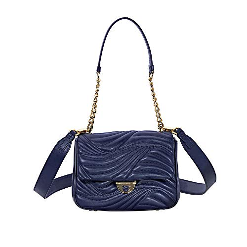 Salvatore Ferragamo Lexi Small Quilted Leather Shoulder Bag- Mirto