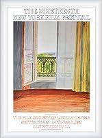 ポスター デビット ホックニー Window Grand Hotel Vittel 1970 額装品 ウッドハイグレードフレーム(ホワイト)