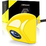CAR ROVER バックカメラ リアカメラ 12V 44万画素数 IP69の防水レベル ネジでナンバープレート取付車載カメラ 黄色