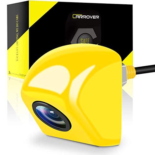 CARROVERバックカメラリアカメラ12V44万画素数IP69の防水レベルネジでナンバープレート取付車載カメラ黄色