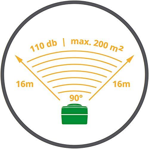 VOSS.sonic Ultraschall Vertreiber mit Bewegungsmelder & Blitz - Marderschreck, Katzenschreck, Tierschreck, Waschbären inkl. Netzteil und Erdstab - 3