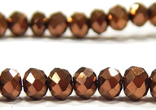 Tsjechische kristallen glazen kralen CZ Boheemse facetgeslepen ronde glaskralen 4/6/8/10 mm kleurselectie 4x3 mm goud (metallic gold)