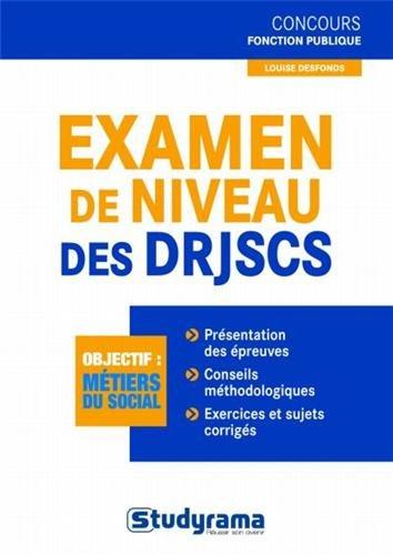 Examen de niveau des DRJSCS