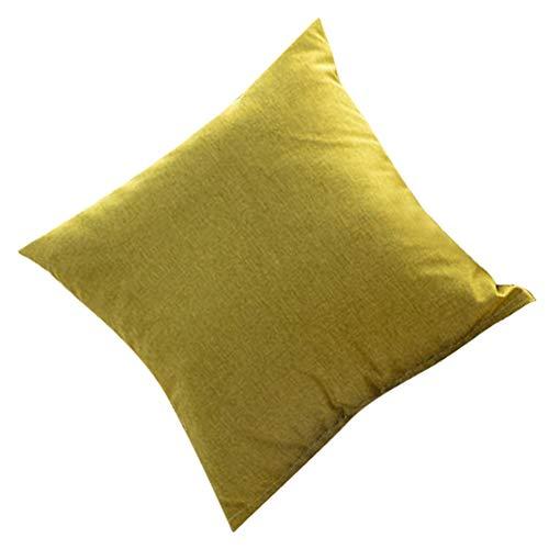 Changor Funda de Almohada Lisa, Almohada de Navidad 40x40cm Cierre de Cremallera Material de Lino de algodón Lino de algodón Hecho para Uso doméstico