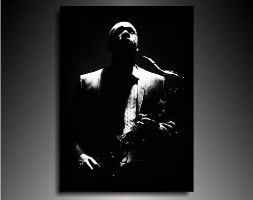 Bilder Kunstdrucke / Boikal / Leinwand Bild mit Keilrahmen John Coltrane Jazz Musiker 100x70 cm xxl.523