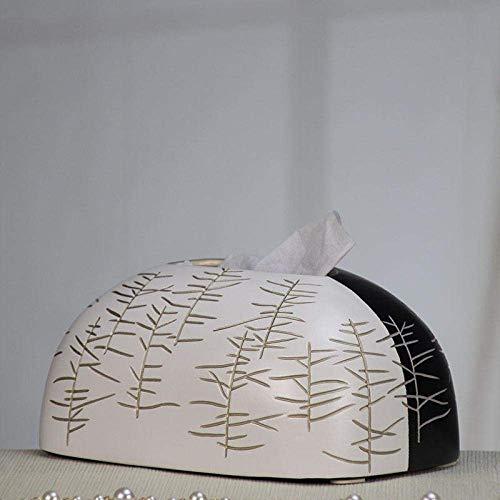 XUSHEN-HU Tejido caja de pañuelos de almacenamiento de Caja Los titulares de tejido caja de pañuelos Inicio Decoración pintada a mano de Salón Comedor papel de la sala gaveta de hogar caja de la servi