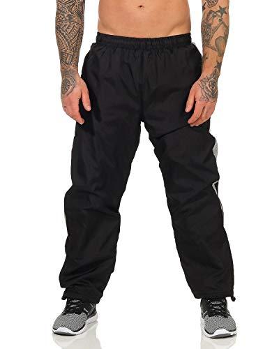ZARMEXX Herren Jogginghose Trainingshose Sporthose Thermo Freizeithose Jogger Sportswear warm gefüttert schwarz L/XL