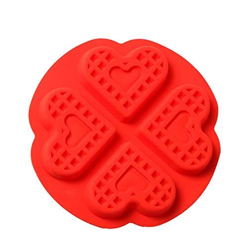 BGREN Moule de Cuisson Moule en Silicone à Haute température en Forme de Coeur-Quatre Amour