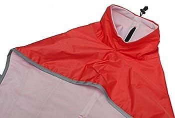 Brabtod Manteau imperméable pour chien lévrier avec barre réfléchissante pour chien avec réglable pour lévriers, lévriers et Whippets-rouge-S