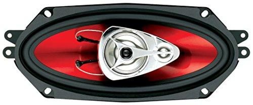 Boss 600w total 3way 6.5 Pulgadas 16,5 Cm coche door//shelf Altavoces Coaxiales Rojo Par