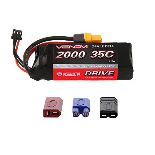 Venom 35C 2S 2000mAh 7.4V LiPo Battery with Universal Plug (EC3/Deans//Tamiya)