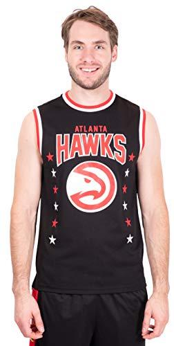 Ultra Game NBA Atlanta Hawks Mens Jersey Sleeveless Muscle T-Shirt, Black, X-Large