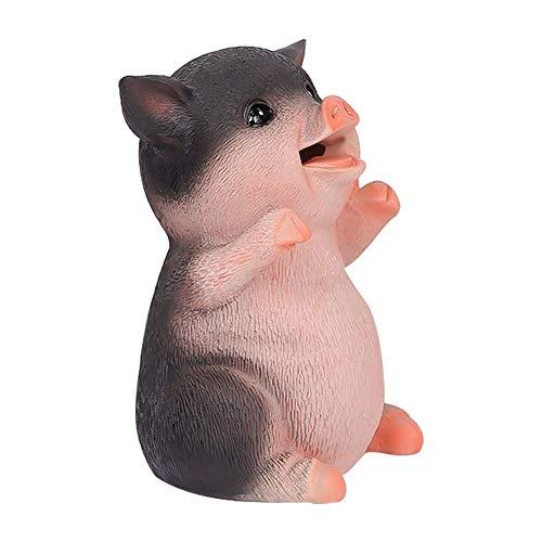 Hucha de cerdo, hucha de diseño animal creativo de la hucha de la moneda del regalo del niño hucha de cerdo - negro