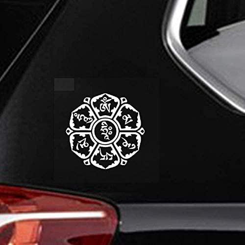 DKISEE Om Mani Padme Hum Mantra Religious Symbol Yoga Decal Beautiful Car Sticker Car Decal product image