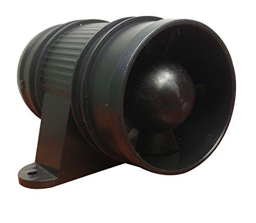 Pactrade Marine High Performance Turbo in Line Bilge Blower, 12V, Black