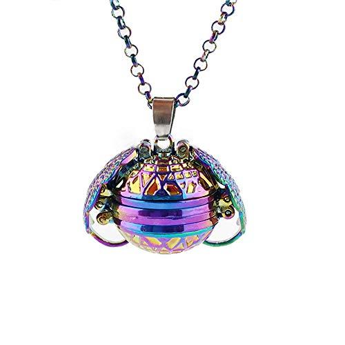 Top WHY Foto Medaillon Engelsflügel Anhänger Halskette, Foto Box Halskette herzförmige Faltbare Multi Layer Halskette Schmuck Geschenk erweitern