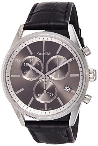 Calvin Klein Reloj Cronógrafo para Hombre de Cuarzo con Correa en Cuero K4M271C3