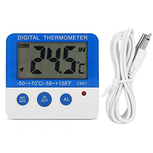 Soapow ABS al aire libre grande pantalla LCD mini alarma termómetro ganado granja medidor de temperatura electrónico