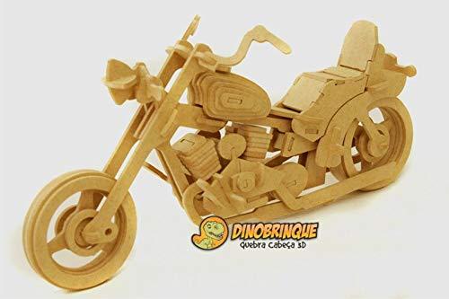 Moto Harley Davidson 102 peças - Quebra cabeça 3d - Dinobrinque