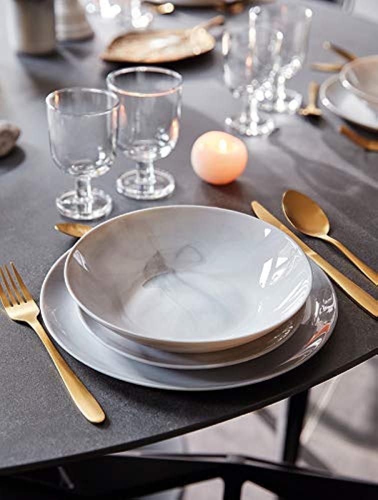 Pagano, servizio di piatti da 18 pezzi, in vetro arcopal