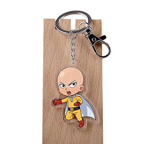 ALTcompluser Anime One Punch Man Karabiner Schlüsselanhänger Saitama Schlüsselbund Acryl Anhänger, Dekoration für Handy/Tasche/Rucksack/Schultertasche/Gepäck(Motiv 3)