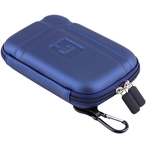 5' Inch Hard Carrying Travel GPS Case Bag Pouch Protective Shell for 5' 5 Inch Garmin Nuvi 55LM 54LM/54 52LM/52 2597LMT 2577LT 2557LMT 3597LMT Tomtom Magellan RoadMate Devices Blue