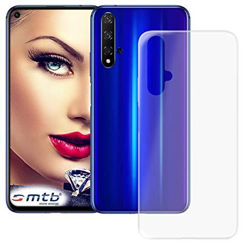 mtb more energy® Custodia Clear & Slim per Huawei Nova 5T (6.26'') / Honor 20 (6.26'') - Trasparente - Flessibile - Sottile - TPU Silicone Case Cover
