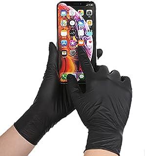 【軽作業用】 使い捨て手袋 PVC 黒 1箱 100枚入り
