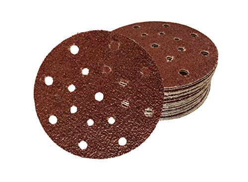 60 dischi abrasivi per levigatrice orbitale, 17 fori, Ø 150 mm, 10 x grana 40/60/80/120/180/240
