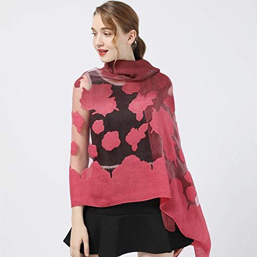Schal Damen Frauen Rose Bedruckt Zweifarbige Schals Frauen Licht Schal Schal...