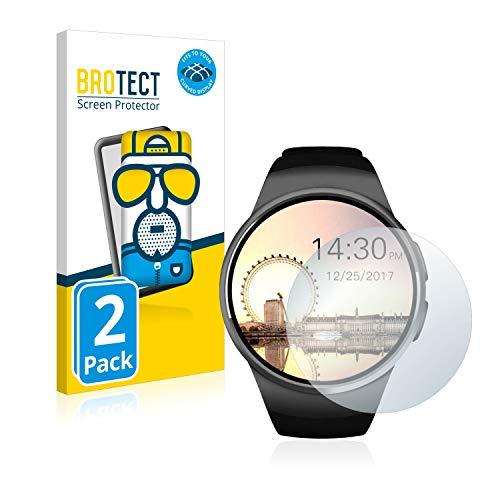 BROTECT Full-Cover Schutzfolie Matt kompatibel mit Evershop Bluetooth Smartwatch (1.5