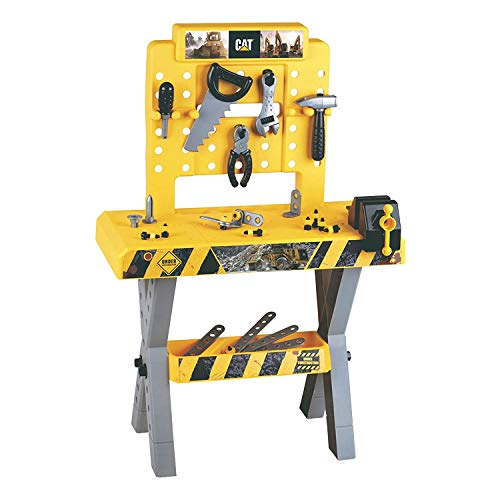 Theo Klein - Caterpillar Workbench Premium Toys for Kids Ages 3 Years & Up