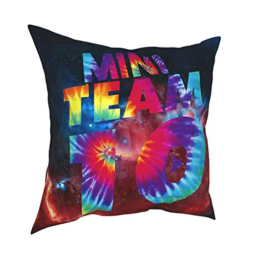 Team 10 Throw Pillow Covers for Sofa Couch Pillowcase Bedroom Car Home Soft Travel Square Gifts 20' X20
