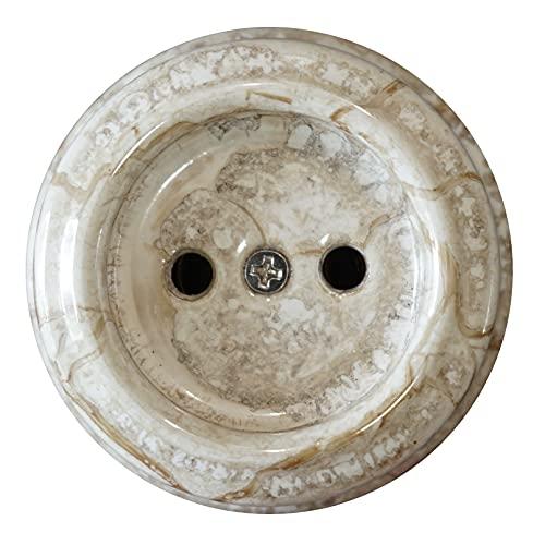Vintage Enchufes de Porcelana pared Bipolar Montaje en Superficie 240V,16A