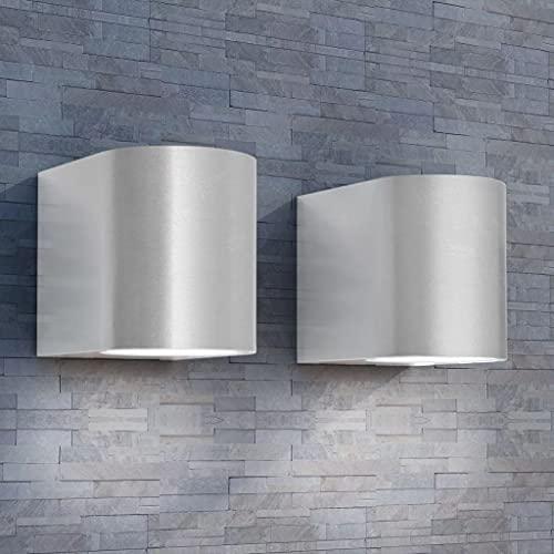 LINWXONGQP Materiale: Alluminio pressofuso Applique LED 2pz Rotonde da Parete per Esterno Proiezione Basso Illuminazione