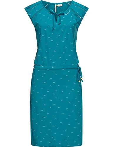 Ragwear Damen Kleid Dress Sommerkleid Strandkleid Jerseykleid Freizeitkleid Tetuan Organic Blau20 Gr. S