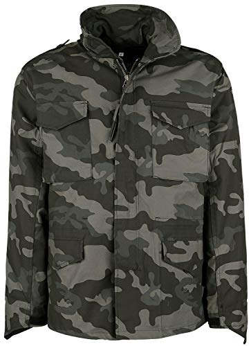 Mens M-65 Dark Camo Classic Military Jacket