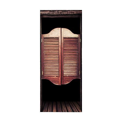 KEXIU 3D estable PVC fotografía adhesivo vinilo puerta pegatina cocina baño decoración mural 77x200cm