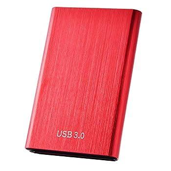 External Hard Drive,Portable Hard Drive1TB 2TB External HDD USB 3.0 for PC Laptop and Mac 2TB Red